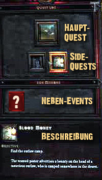 Quest-Fenster Diablo 3